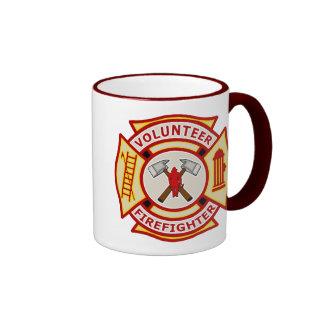 Volunteer Firefighter Maltese Cross Ringer Mug