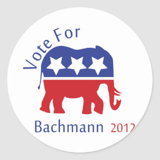 Vote for Michelle Bachmann 2012 Round Sticker