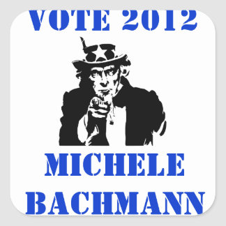 VOTE MICHELE BACHMANN 2012 SQUARE STICKER