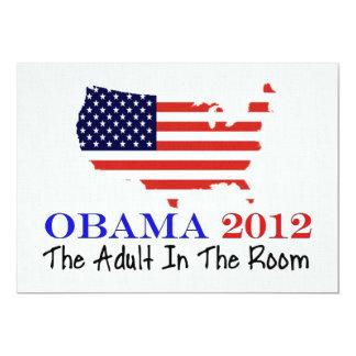 Vote Obama 2012 13 Cm X 18 Cm Invitation Card