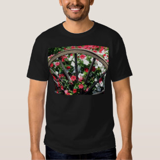 Wagon Wheel and Flowers 2 Tees