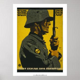Wahr Dich - German World War I Poster