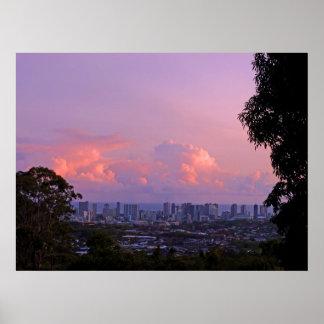 Waikiki Twilight Poster