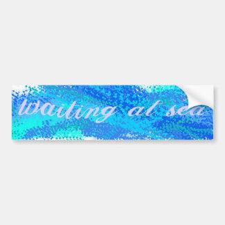 Waiting at Sea Bumper Sticker