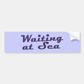 Waiting at Sea Logo Bumper Sticker