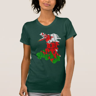 Wales Home of Rugby Map T Shirts