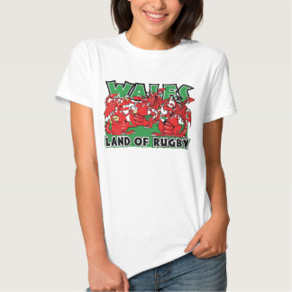 Wales Land of Rugby Welsh Design T Shirts