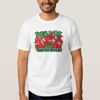 Wales Land of Rugby, Welsh Dragons T-shirts