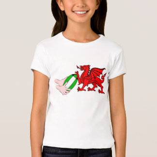 Wales Rugby Team  Dragon With Rugby Ball T-shirts