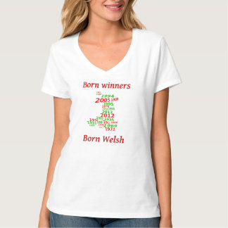 Wales rugby winning years champions t-shirts