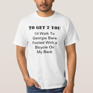 Walk To Georgia Bare Footed T-shirts