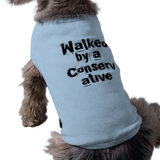 Walked by a Conservative - Funny Election Dog Gift Sleeveless Dog Shirt