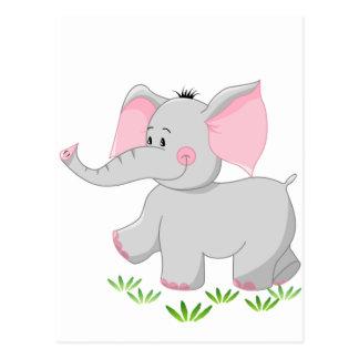 Walking elephant for children postcard