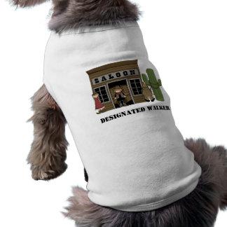Walking the Dog - Western Sleeveless Dog Shirt