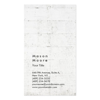 Wall Backgorund Vertical Modern Style Professional Pack Of Standard Business Cards