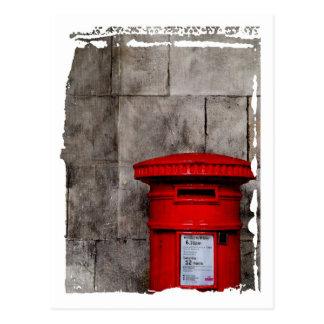 Wall & Postbox Postcard