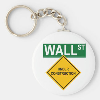 Wall Street: Under Construction Basic Round Button Key Ring
