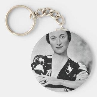 Wallis Simpson Basic Round Button Key Ring