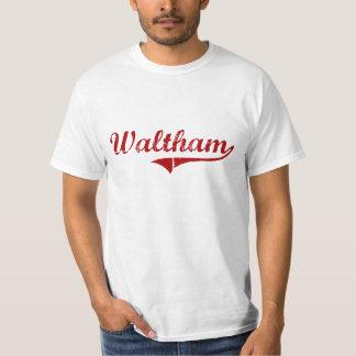 Waltham Massachusetts Classic Design Tshirts