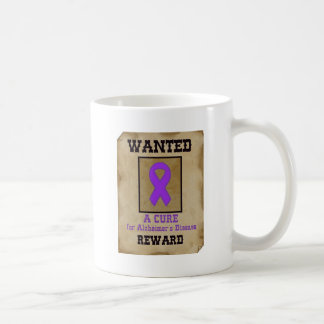 Wanted: A Cure for Alzheimer's Disease Basic White Mug