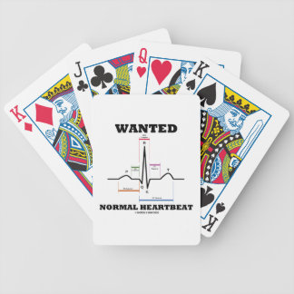 Wanted Normal Hearbeat (ECG/EKG Electrocardiogram) Poker Cards