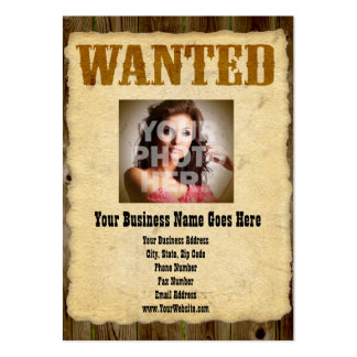 Wanted Poster Old-Time Photo Pack Of Chubby Business Cards