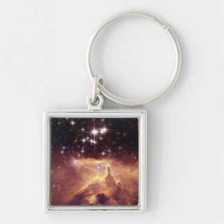 War and peace NGC6357 symbolic Silver-Colored Square Key Ring