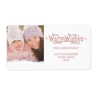 Warm Wishes | Holiday Photo Return Address Labels