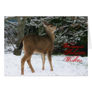 Warmest Solstice Wishes greeting card