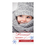 Warmest Wishes Holiday Photocard Photo Card Template