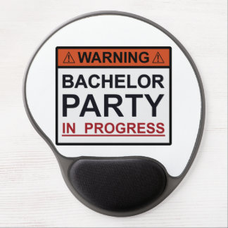 Warning Bachelor Party in Progress Gel Mouse Pad