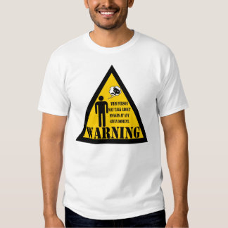 Warning this person may talk about snakes t shirts