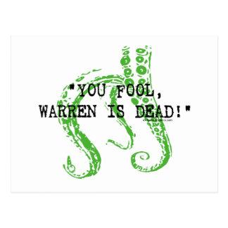 Warren is dead H. P. Lovecraft Postcard