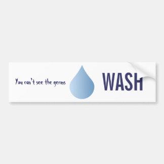 WASH hands blue rain drop clean water sticker Bumper Sticker