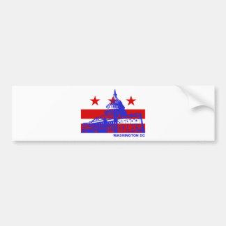 Washington DC Flag Bumper Sticker