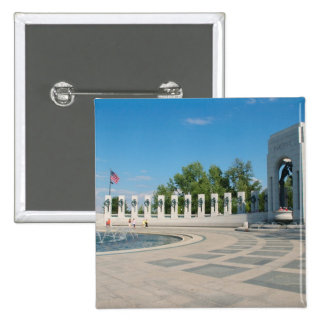 Washington, DC, National WWII Memorial 15 Cm Square Badge