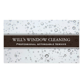 Water Splash, White Window Cleaner - Business Card