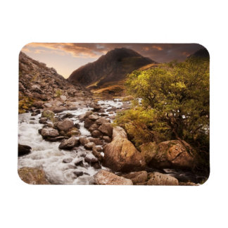 Waterfall In Mountains With Moody Dramatic Rectangular Photo Magnet