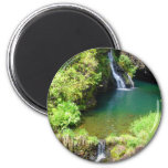 Waterfalls along the Road to Hana, Maui, Hawaii 6 Cm Round Magnet