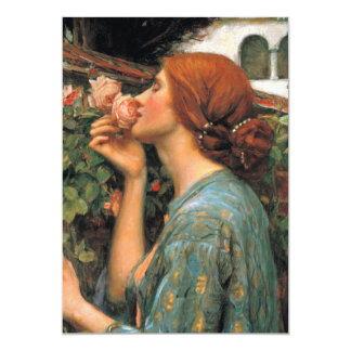 Waterhouse: Smell of Roses 13 Cm X 18 Cm Invitation Card