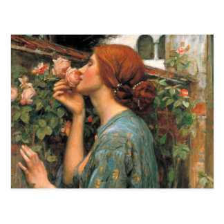Waterhouse: Smell of Roses Postcard