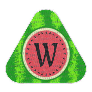 Watermelon Slice Summer Fruit with Rind Monogram