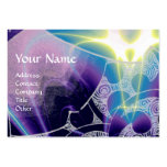 WAVES MONOGRAM, bright light purple blue Pack Of Chubby Business Cards