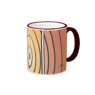 Waves Oranges Ringer Mug