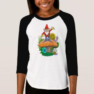 Waving garden gnomes tea break. shirts