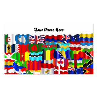 Wavy Flag Wallpaper, Your Name Here Pack Of Standard Business Cards