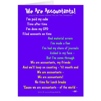 We Are Accountants! Double-sided Customisable Greeting Card