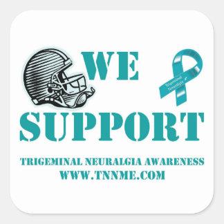 we support TN football sticker... Square Sticker