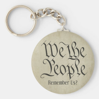 We the People! Basic Round Button Key Ring