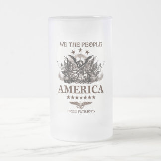 We The People! Frosted Glass Mug